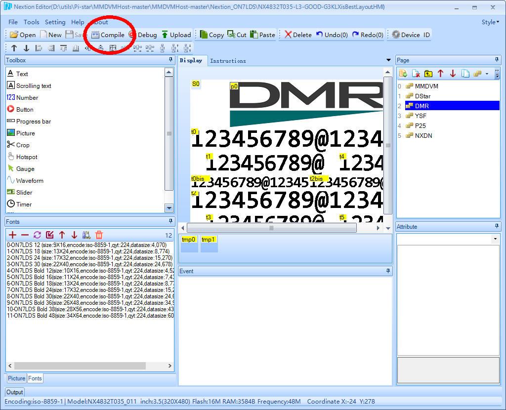 DMR Nextion Notes N3ENM